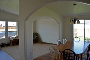 Cedar dining and family room