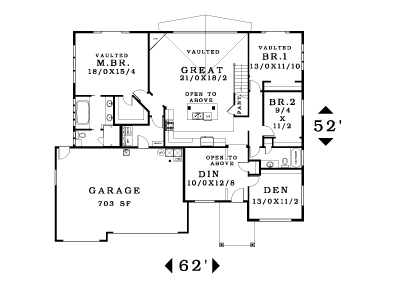 Cypress loft olin homes House plans without dining room